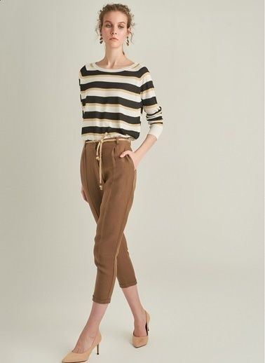 Ng Style Keten Karışımlı Rahat Fit Pantolon Haki